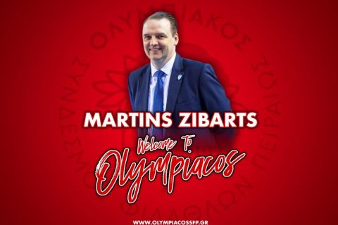 Ο νέος προπονητής της ομάδας μπάσκετ γυναικών του Ολυμπιακού, Μάρτινς Ζίμπαρτς