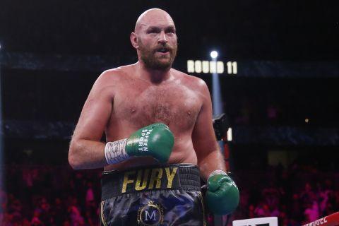Ο Tyson Fury στην αναμέτρηση με τον Deontay Wilder