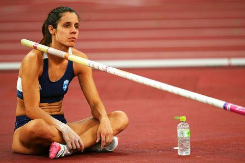 Η Κατερίνα Στεφανίδη στον τελικό του επί κοντώ στους Ολυμπιακούς Αγώνες του Τόκιο