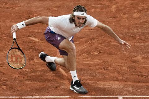 Ο Στέφανος Τσιτσιπάς στον προημιτελικό του Roland Garros