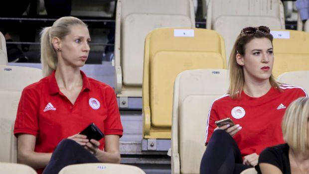Η γυναικεία ομάδα του Ολυμπιακού είδε το σόου του Μιλουτίνοβ