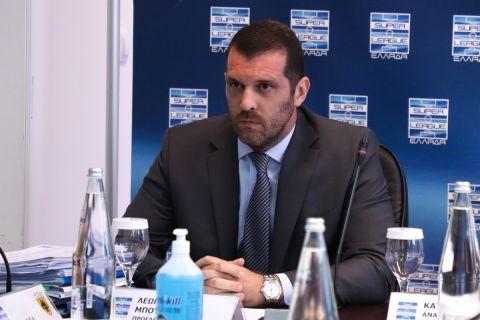 Ο πρόεδρος της Super League Interwetten Λεωνίδας Μπουτσικάρης