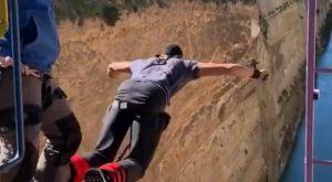 Το bungee jumping από τον Ισθμό και η κραυγή του Καραλή