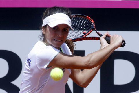 Η Βαλεντίνη Γραμματικοπούλου σε στιγμιότυπο αγώνα της στο Fed Cup 2018 | Σάββατο 21 Απριλίου 2018