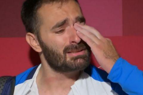 """Ολυμπιακοί Αγώνες - Λύγισε στην κάμερα ο γίγαντας Ιακωβίδης: """"Συγγνώμη, αν για κάποιους το βάζω στα πόδια"""""""