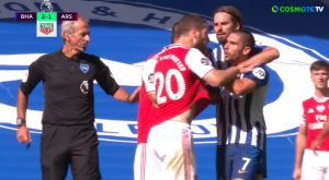 Μπράιτον – Άρσεναλ: Ο Γκουεντουζί χτύπησε τον Μοπέ στο τέλος του ματς