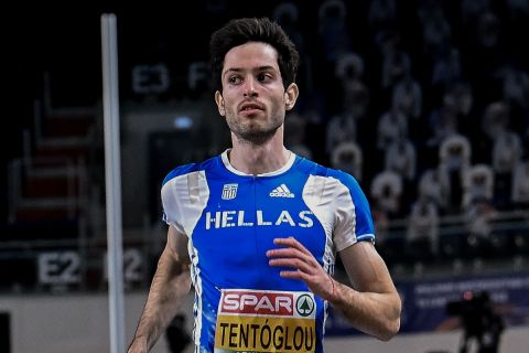 Ο Μίλτος Τεντόγλου στο ευρωπαίκό πρωτάθλημα στίβου στο Τορούν το 2021.