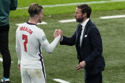 """Ο Γκάρεθ Σάουγκεϊτ μετά το ματς της Αγγλίας με την Τσεχία στο """"Γουέμπλεϊ"""" για τη φάση των ομίλων του Euro 2020"""