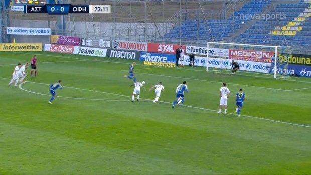 Αστέρας - ΟΦΗ: Το 1-0 με πέναλτι ο Μπαράλες