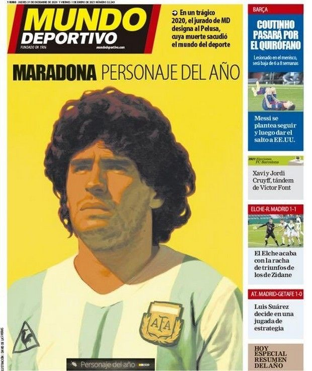 Το πρωτοσέλιδο της Mundo Deportivo