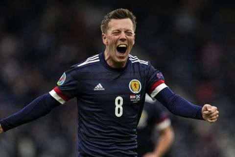 Ο Κάλουμ Μακγκρέγκορ σκοράρει για την Σκωτία κόντρα στην Κροατία στο Euro 2020