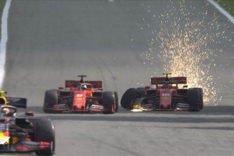 Νέα παρωδία στη Ferrari: Ο Λεκλέρκ χτύπησε τον Φέτελ