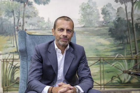 Ο πρόεδρος της UEFA, Αλεξάντερ Τσέφεριν