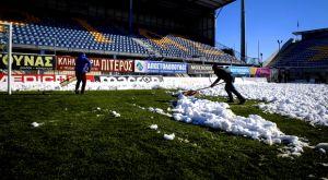 Αστέρας – ΠΑΟΚ: Καθαρίζεται από το χιόνι το «Θ. Κολοκοτρώνης», προς διεξαγωγή το ματς