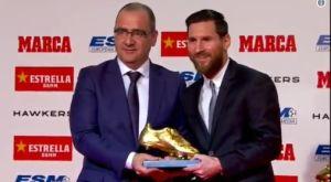Χρυσό Παπούτσι: Βραβεύτηκε για πέμπτη φορά ο Μέσι