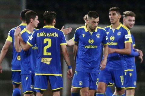 Οι παίκτες του Αστέρα Τρίπολης πανηγυρίζουν το γκολ κόντρα στον ΠΑΟΚ