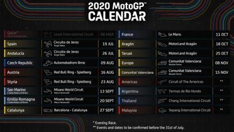 Επίσημο: Στις 19 Ιουλίου ξεκινάει η σεζόν στο MotoGP
