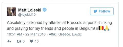 Σοκ Λοτζέσκι για το τρομοκρατικό χτύπημα στο αεροδρόμιο των Βρυξελλών