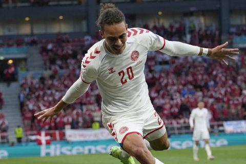 Ο Πόουλσεν στην αναμέτρηση της στην αναμέτρηση της Δανίας με τη Ρωσία για το Euro 2020.