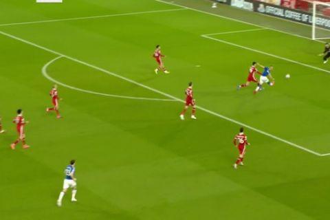 Λίβερπουλ - Έβερτον: Φοβερή πάσα Ροντρίγκες, γκολ ο Ρισάρλιζον για το 0-1 στο 3'