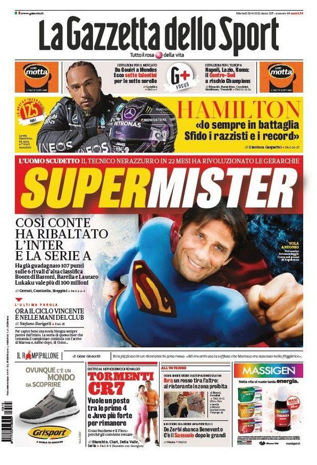 Πρωτοσέλιδο της Gazzetta dello Sport