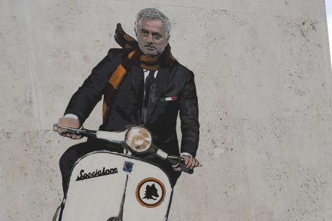 Ο Ζοζέ Μουρίνιο σε τοιχογραφία σε περιοχή της Ρώμης