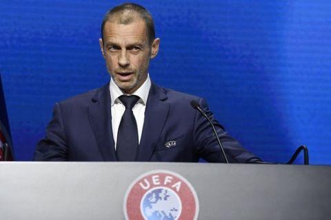Ο Τσέφεριν σε έκτακτη συνέντευξη Τύπου της UEFA