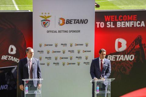 Ο CEO της Kaizen Gaming, κύριος Γιώργος Δασκαλάκης με τον πρόεδρο της Benfica, Ρουί Κόστα