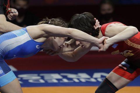 Η Μαρία Πρεβολαράκη στο Ευρωπαϊκό Πρωτάθλημα Πάλης