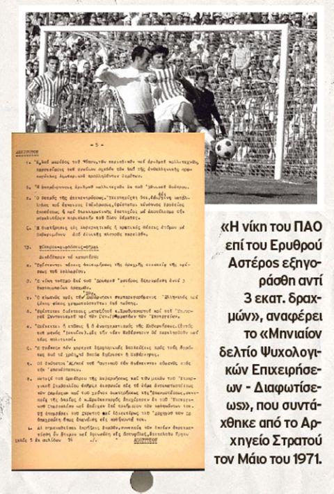 Απόρρητο έγγραφο για το ΠΑΟ - Ερ. Αστέρας