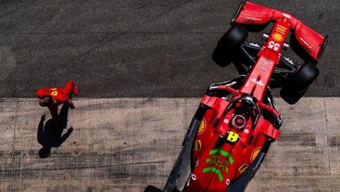 FERRARI F1 GP BARCELLONA - SABATO 08/05/2021 credit @Scuderia Ferrari Press Office
