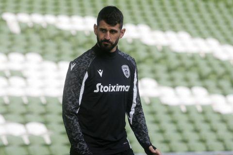 Ο Ολιβέιρα από την προπόνηση του ΠΑΟΚ στο Δουβλίνο για το ματς με τη Μποέμιανς   2 Αυγούστου 2021