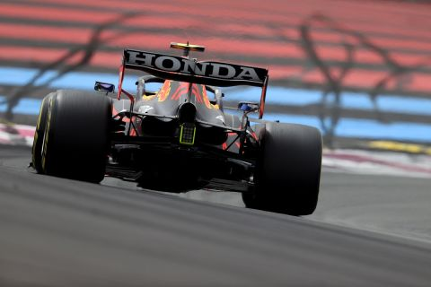 LE CASTELLET, FRANCE - JUNE 19: Sergio Perez of Mexico driving the (11) Red Bull Racing RB16B Honda on track during qualifying ahead of the F1 Grand Prix of France at Circuit Paul Ricard on June 19, 2021 in Le Castellet, France. (Photo by Clive Rose/Getty Images) // Getty Images / Red Bull Content Pool  // SI202106190314 // Usage for editorial use only //