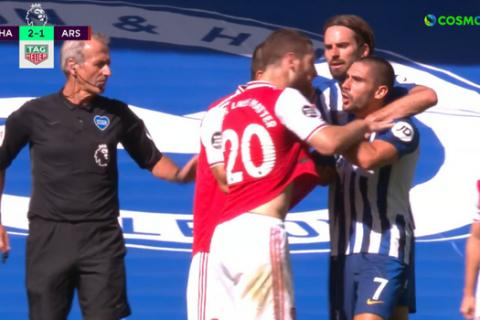Μπράιτον - Άρσεναλ: Ο Γκουεντουζί χτύπησε τον Μοπέ στο τέλος του ματς