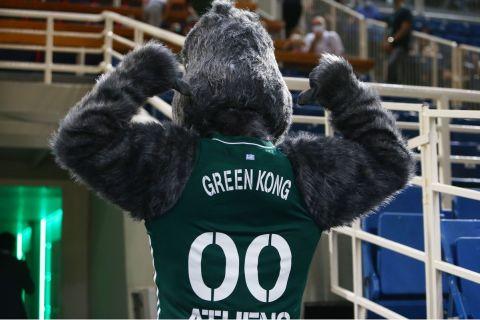 Η νέα μασκότ του Παναθηναϊκού με τον Green Kong
