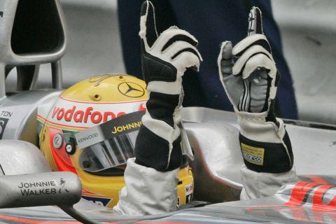 Ο Λιούις Χάμιλτον στο GP του Μονακό το 2008
