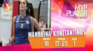 MVP της πρώτης αγωνιστικής η Κωνσταντίνου