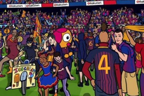 Where's Messi: Το εκπληκτικό σκίτσο 360 μοιρών της Μπαρτσελόνα