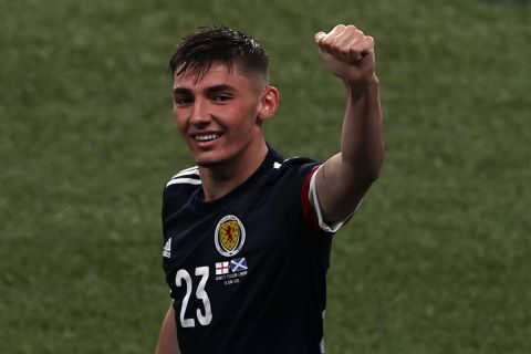 Ο Γκίλμουρ μετά την αναμέτρηση της Σκωτίας με την Αγγλία στη φάση των ομίλων του Euro 2020.