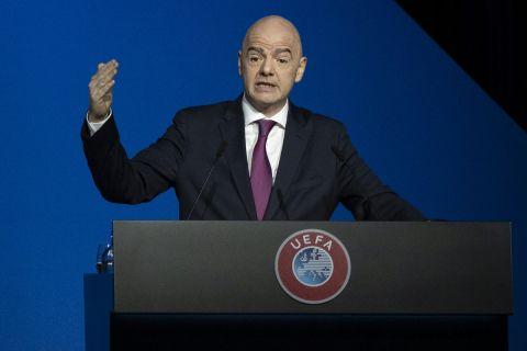 Ο πρόεδρος της FIFA, Τζιάνι Ινφαντίνο