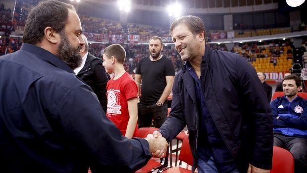 Μαρινάκης και Μαρτίνς στο ΣΕΦ για το Ολυμπιακός - Ραβένα