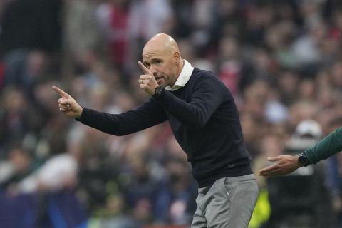 Ο προπονητής του Άγιαξ, Έρικ τεν Χαγκ, στην αναμέτρηση με την Μπεσίκτας για το Champions League