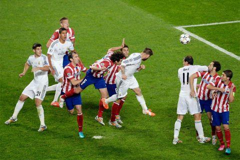 Ο Σέρχιο Ράμος στο σημαντικότερο γκολ της καριέρας του. Το 1-1 στις καθυστερήσεις του τελικού του Champions League απέναντι στην Ατλέτικο (25/5/2014).
