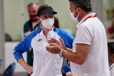 Η Άννα Κορακάκη με τον πατέρα της και προπονητή της