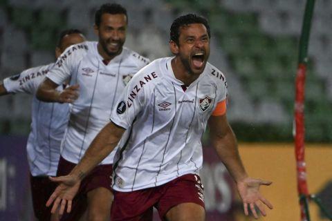 Ο Φρεντ της Φλουμινένσε πανηγυρίζει γκολ που σημείωσε κόντρα στην Ιντεπεντιέντε Σάντα Φε για το Copa Libertadores 2021, Αρμένια | Τετάρτη 28 Απριλίου 2021