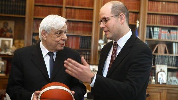 Ο Πρόεδρος της Δημοκρατίας συναντήθηκε με τον Γενικό Γραμματέα της FIBA
