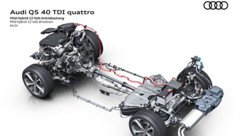 Mild hybrid 12 volt drivetrain