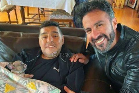 Ο Μαραντόνα με τον φίλο και γιατρό του, Λεοπόλδο Λούκε