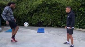 Ολυμπιακός: Γυμναστική και μπάλα στο σπίτι από Σεμέδο και Γκασπάρ