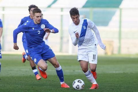 Αναμέτρηση μεταξύ Ελλάδας και Κύπρου για τα προκριματικά του Ευρωπαϊκού Πρωταθλήματος Κ21 (25 Μαρτίου 2021)